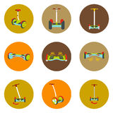 Gyroscope. Vector icons in a flat style on a color road background Stock Image