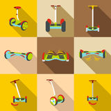 Gyroscope. Vector icons in a flat style on a white background Stock Images