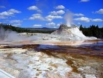 Gyser que entra en erupción Fotografía de archivo libre de regalías