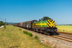 GySEV freight train Royalty Free Stock Photo
