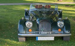 Classic Morgan car. Gysinge, Sweden - September 1 2018: Mog east autumn event with calssic Morgan cars in a rov on September 1, 2018 in Gysinge, sweden stock images
