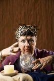 Gyspy met een kristallen bol Royalty-vrije Stock Foto's