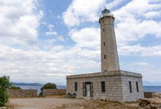 Gytheio lighthouse, Peloponnese, Greece. royalty free stock images