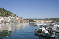 Gytheio - Peloponnese Greece. Known as the seaport of Sparta, today it is the largest and most important town in Mani - Laconia Prefecture Stock Photography
