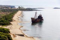 Gythio beach Shipwreck Stock Photo