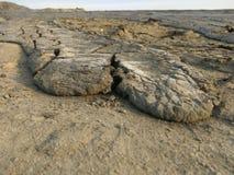 Gyttja som magma - lerigt vulkanutbrott arkivbild
