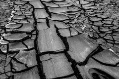 Gyttjavulkan på gobustan i Azerbajdzjan Arkivbild