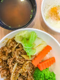 Gyudon Foto de Stock Royalty Free