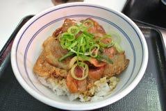 Gyudon, alimento giapponese Immagine Stock