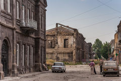 Gyumri, heavily damaged by earthquake Stock Image