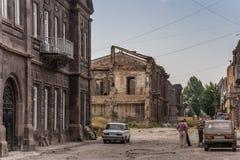 Gyumri, heavily damaged by earthquake Stock Image