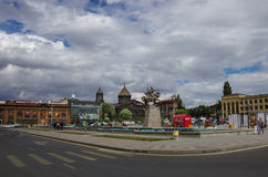 Gyumri Main Square with Yot Verk church, Armenia Royalty Free Stock Image