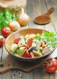 Gyuvech, o prato nacional búlgaro Foto de Stock