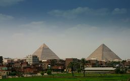 Gyza piramids. Egypt: kefren pyramid Royalty Free Stock Images