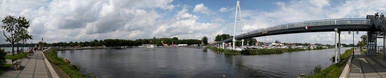 Gyzicko hamn, Mazury område, Polen royaltyfria bilder