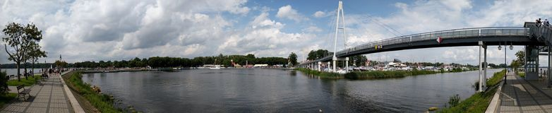 Gyzicko Harbour, Mazury District, Poland Royalty Free Stock Images