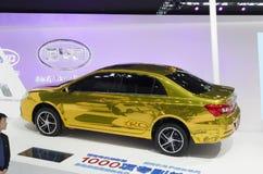 2013 GZ AUTOSHOW-BYD Qin Hybrid Lizenzfreie Stockbilder