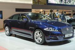 2013 GZ AUTOSHOW-JAGUAR XJ. British luxury JAGUAR XJ flagship Business Edition timely all-wheel drive, in The 11th China (Guangzhou) International Automobile Stock Images