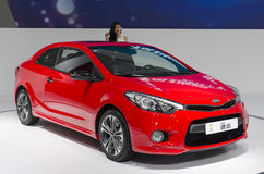 2013 GZ AUTOSHOW-KIA Forte Koup Coupe. The red KIA Forte Koup Coupe, in The 11th China (Guangzhou) International Automobile Exhibition, in China Import and Royalty Free Stock Photos