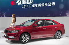 2013 GZ AUTOSHOW-KIA Forte R. The red KIA Forte R sedan, in The 11th China (Guangzhou) International Automobile Exhibition, in China Import and Export Fair royalty free stock photo