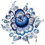 Gzhel Blumen. Russische Verzierung Stock Abbildung
