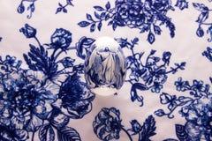 Gzhel egg God Royalty Free Stock Images
