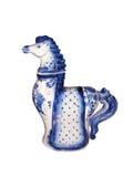 Gzhel horse Royalty Free Stock Image