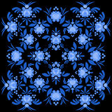 Gzhel painted pattern. Floral ornament. Russian national folk cr Stock Photography