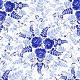 Gzhel pattern on white background vector illustration