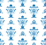 Gzhel samovar pattern Stock Photo