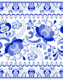 Gzhel seamless pattern Stock Photos