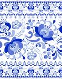 Gzhel seamless pattern Stock Photos