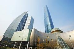 中心财务广州gzifc国际 库存照片