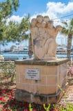 Gzira Malta - Maj 9, 2017: Monument IC-Crieki i Gzira Fotografering för Bildbyråer