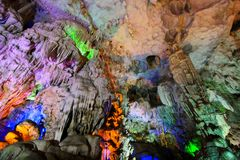 Thien Cung Grotto, Ha Long Bay, Vietnam UNESCO World Heritage Royalty Free Stock Photo