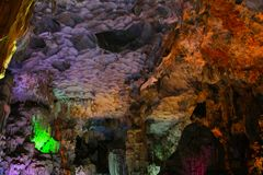 Thien Cung Grotto, Ha Long Bay, Vietnam UNESCO World Heritage Stock Images