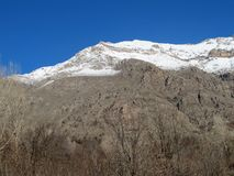 Há neve na montanha de Qandil Foto de Stock Royalty Free