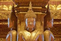 Há quatro estátuas pequenas de Buddha no templo Phumin Nan, Fotografia de Stock