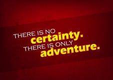 Há somente uma aventura ilustração do vetor