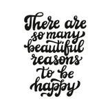 Há tão muitos raesons bonitos a estar felizes Foto de Stock Royalty Free