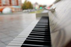 Há um piano fora no parque fotos de stock royalty free