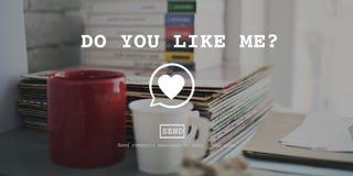 Hágale les gusta mí concepto de Valentine Romance Love Toast Dating fotos de archivo libres de regalías