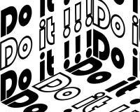 Hágalo inscripción Cita inspirada, motivaci?n Tipograf?a para la camiseta, invitaci?n, impresi?n de la camiseta de la tarjeta de  stock de ilustración
