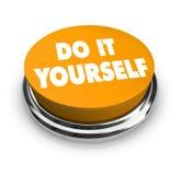 Hágalo usted mismo - botón anaranjado Fotografía de archivo