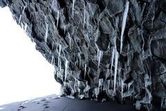 Hálsanefshellir cave in Iceland royalty free stock photo