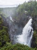 HällingsÃ¥fallet, cascade du nord de la Suède photographie stock libre de droits