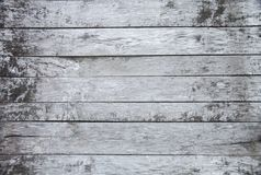 Hölzernes altes weißer und grauer gemalt schäbiger Hintergrund, natürliches altes rustikales hölzernes Beschaffenheitsbodenelemen stockfotos