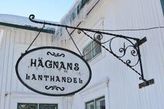 Hägnans国家商店在露天博物馆Hägnan 图库摄影