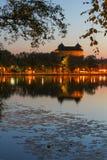 Hämeen-linna Schloss bis zum Nacht Lizenzfreie Stockbilder