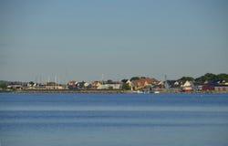 Hörvik και λιμάνι, Σουηδία Στοκ φωτογραφία με δικαίωμα ελεύθερης χρήσης